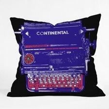 Romi Vega Continental Typewriter Indoor/Outdoor Throw Pillow