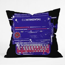 Romi Vega Continental Typewriter Throw Pillow