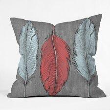 Wesley Bird Feathered Indoor/Outdoor Throw Pillow