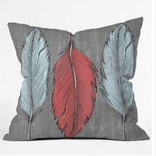 Wesley Bird Feathered Euro Pillow