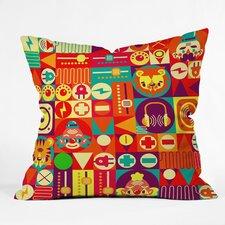 Chobopop Elecro Circus Throw Pillow