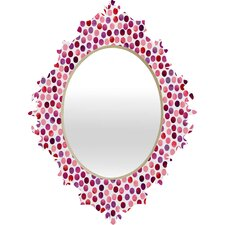Garima Dhawan Watercolor Dots Berry Baroque Mirror