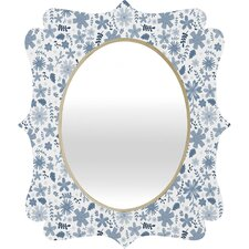 Jennifer Denty Genevieve Florals Big Wall Mirror
