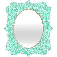 Joy Laforme Dahlias Seafoam Wall Mirror