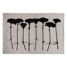 Garima Dhawan Black Carnations Novelty Rug