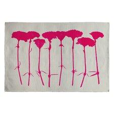 Garima Dhawan Pink Carnations Novelty Rug