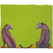 Clara Nilles Leopard Lovers Throw Blanket