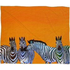 Clara Nilles Candy Stripe Zebras Throw Blanket