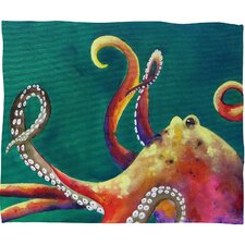 Clara Nilles Mardi Gras Octopus Throw Blanket