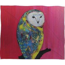 Clara Nilles Owl On Lipstick Throw Blanket