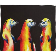 Clara Nilles Flaming Otters Throw Blanket