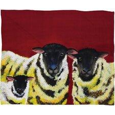 Clara Nilles Lemon Spongecake Sheep Throw Blanket