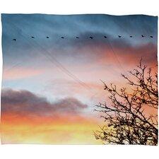 Bird Wanna Whistle Bird Line Throw Blanket
