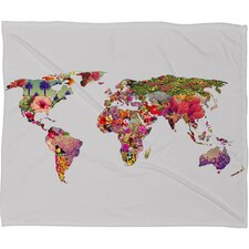 Bianca Green Its Your World Throw Blanket