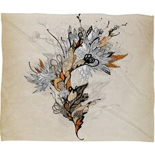 Iveta Abolina Floral 1 Throw Blanket