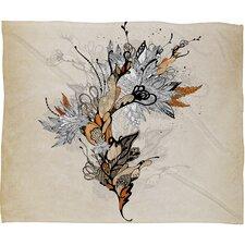 Iveta Abolina Floral 1 Throw Blanket