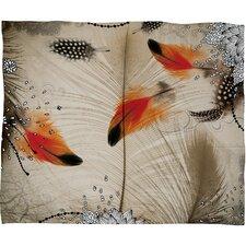 Iveta Abolina Feather Dance Throw Blanket