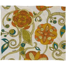 Valentina Ramos Orange Flowers Throw Blanket