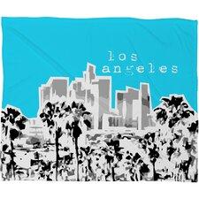 Bird Ave Los Angeles Throw Blanket