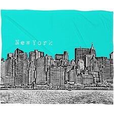 Bird Ave New York Throw Blanket