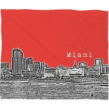 Bird Ave Miami Throw Blanket
