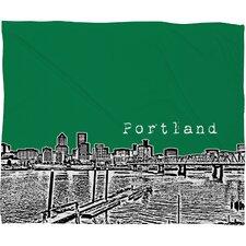 Bird Ave Portland Throw Blanket