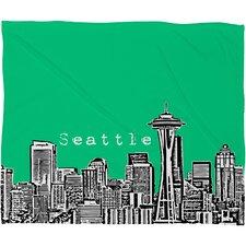 Bird Ave Seattle Throw Blanket