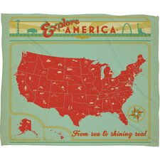 Anderson Design Group Explore America Throw Blanket