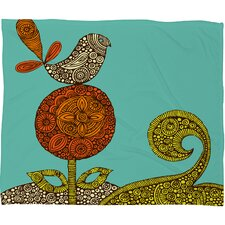 Valentina Ramos Bird in The Flower Throw Blanket