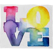 CMYKaren Love 4 Throw Blanket