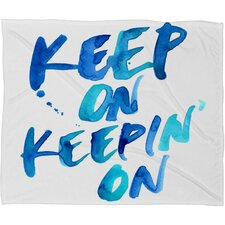 CMYKaren Keep on Keepin On Throw Blanket