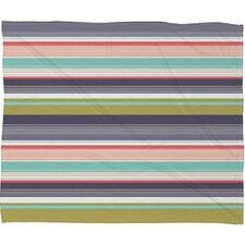 Wendy Kendall Multi Stripe Throw Blanket