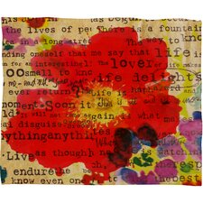 Irena Orlov Poppy Poetry 2 Throw Blanket