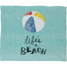 Nick Nelson Lifes A Beach Throw Blanket