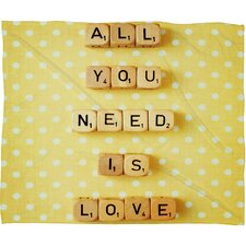 Happee Monkee All You Need Is Love 1 Throw Blanket
