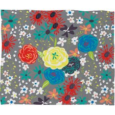 Vy La Bloomimg Love Throw Blanket