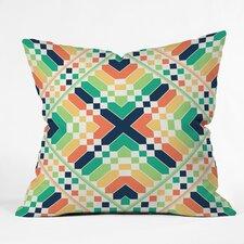 Budi Kwan Retrographic Rainbow Indoor Throw Pillow