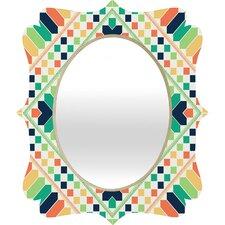 Budi Kwan Retrographic Rainbow Quatrefoil Wall Mirror