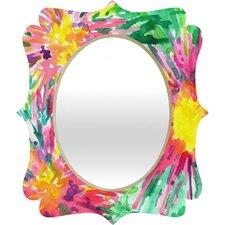 Joy Laforme Floral Confetti Quatrefoil Mirror