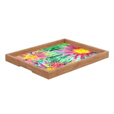 Joy Laforme Floral Confetti Rectangular Tray