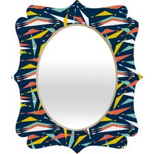 Heather Dutton Swizzlestick Party Girl Quatrefoil Mirror