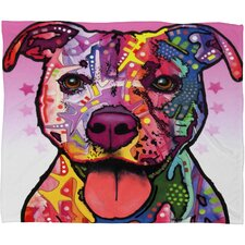 Dean Russo Cherish The Pitbull Throw Blanket
