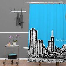 Bird Ave Chicago Shower Curtain