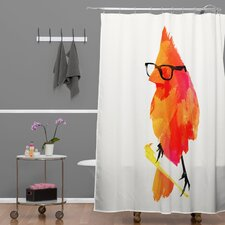 Robert Farkas Punk Bird Shower Curtain