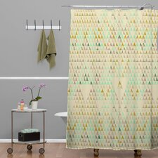 Pattern State Triangle Lake Shower Curtain