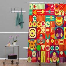 Chobopop Elecro Circus Shower Curtain