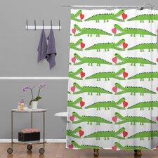 Andi Bird Alligator Love Shower Curtain