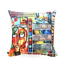 Robin Faye Gates Musical Chairs Throw Pillow