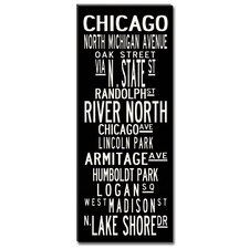 Chicago Textual Art Giclee Printed on Canvas