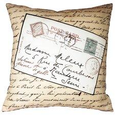 French Vintage Postcard Throw Pillow